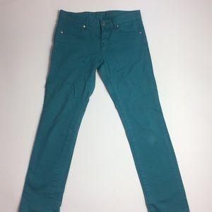 UniQLO Japanese Green Denim Skinny Jeans Pants